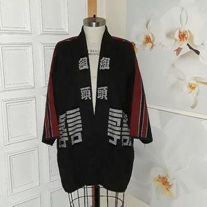 Asian-inspired robe jacket